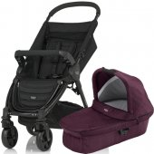 Britax Коляска 2-в-1 B-Agile 4 Plus (Britax Коляска 2-в-1 B-Agile 4 Plus (Wine Red Denim))